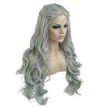 """قوي الجمال Daenerys Targaryen التنين الأميرة شعر مستعار تأثيري هالوين زي الباروكات الاصطناعية 32 """"في الوزن الصافي 500g"""