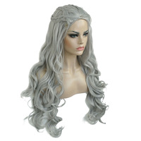 StrongBeauty Daenerys Targaryen Dragon Princess Cosplay Wig Halloween Costume Wigs Synthetic 32 in Net weight 500g