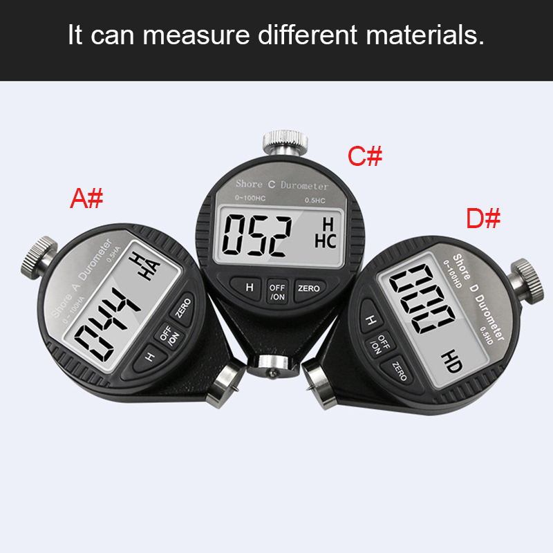 Newly Compact Pocket Size Digital Shore Durometer Tester 1 100HA/HC/HD Hardness Meter LCD Display XSD88