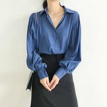 Plus Size Casual Shirt Women Sun Protection Blouse Turn Down