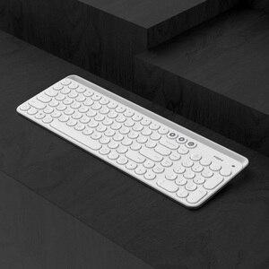Image 2 - Youpin Miiiw Bluetooth Двухрежимная клавиатура MWBK01, 104 клавиши, 2,4 ГГц, мультисистемная, беспроводная, портативная клавиатура