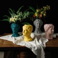 Modern Ceramic Venus Vase Statue Figurines Crafts Decoration Home Livingroom Desktop Furnishing Decor Fake Flower pot Ornaments