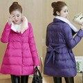 Ropa de maternidad Del Invierno Wadded la Chaqueta de Moda Chaqueta de Algodón acolchado ropa de abrigo chaqueta de algodón acolchado abajo medio-largo flojo