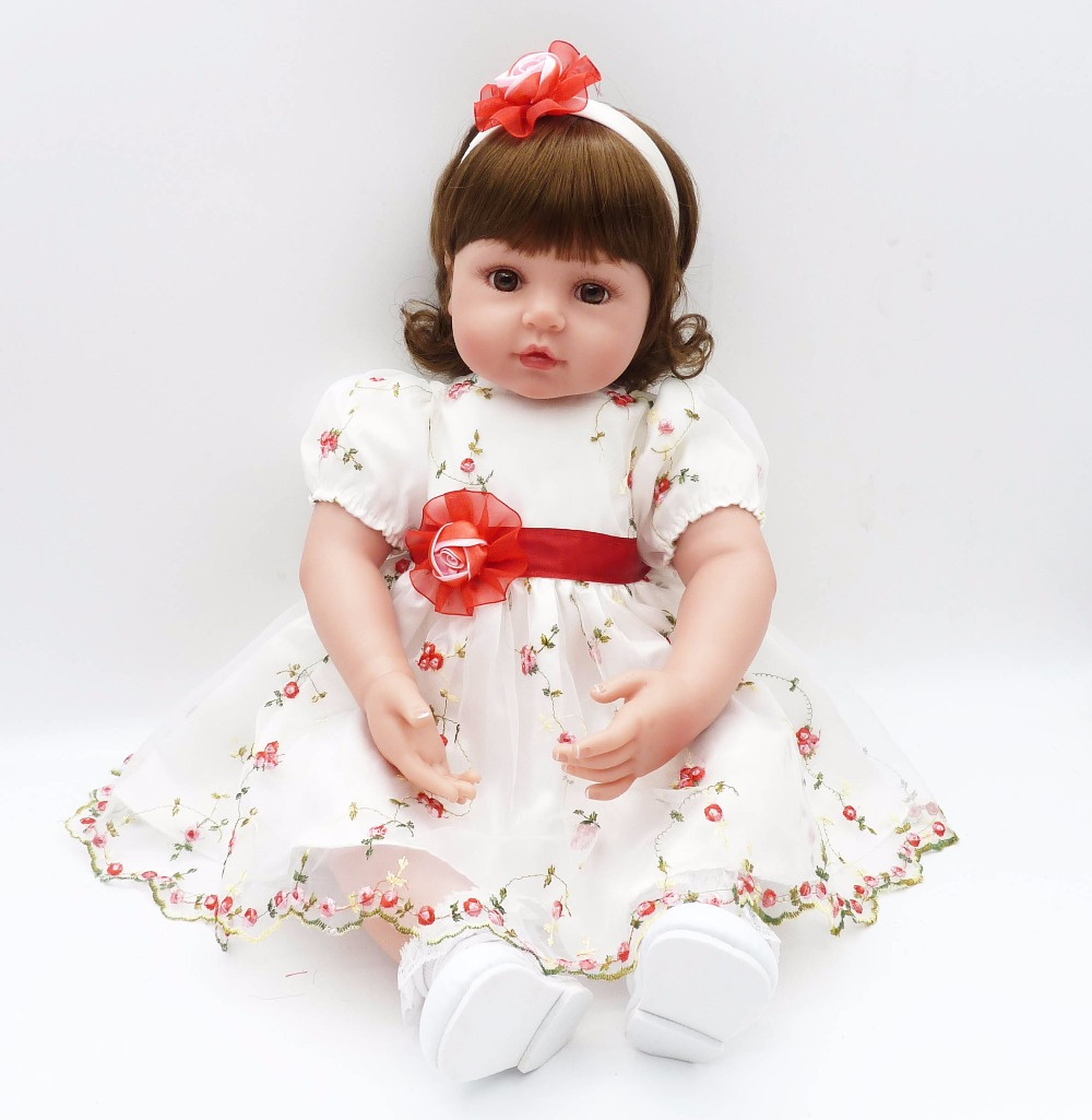 2256cm charm baby adora Lifelike toddler Baby girl Bonecas with cute princess dress and short hair silicone reborn baby dolls river cottage baby and toddler cookbook