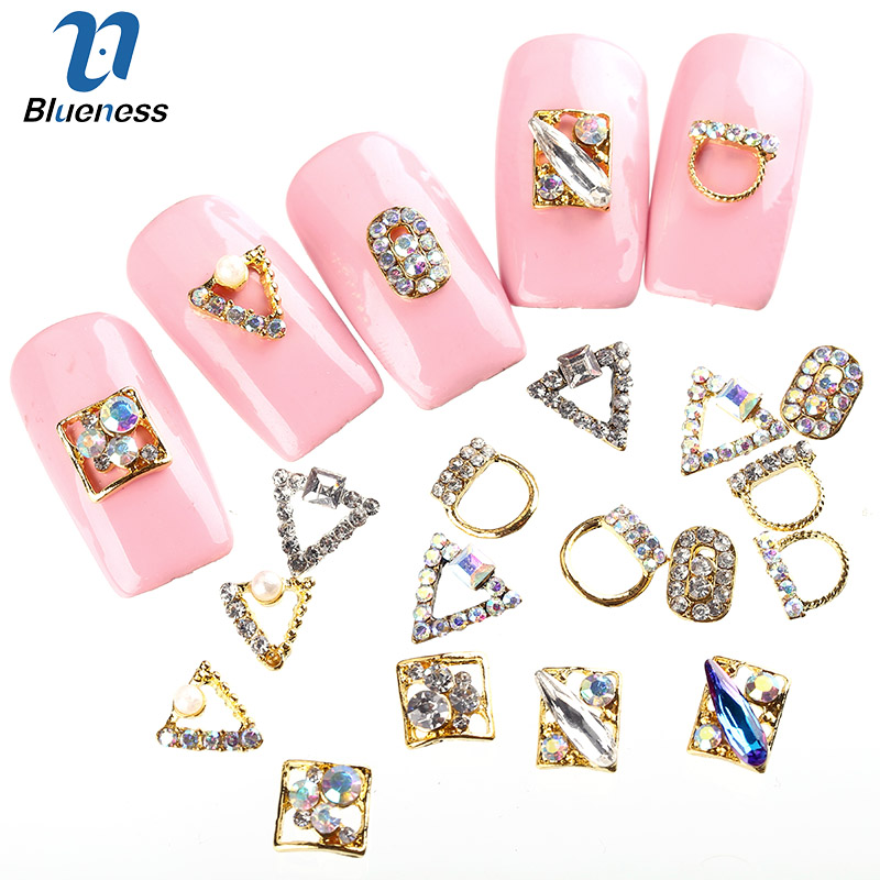 The Best Blueness 10pcs Golden Bow 3d Metal Alloy Nail Art Decoration Charms Studs Nails Rhinestones Nail Jewelry Supplies Tn621 Nails Art & Tools Rhinestones & Decorations