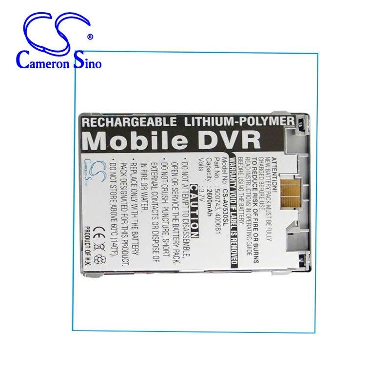 CameronSino 2600 mah batterie pour Archos AV500AV500E AV530 Mobile DVR 30 GB 400081 500743 MP3, MP4, PMP batterie