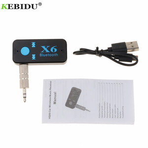 Image 4 - Kebidu X6 Adapter Bluetooth Receiver Auto Car Bluetooth Aux Kit Support TF Card A2DP Audio Stereo Bluetooth HandFree Receiver