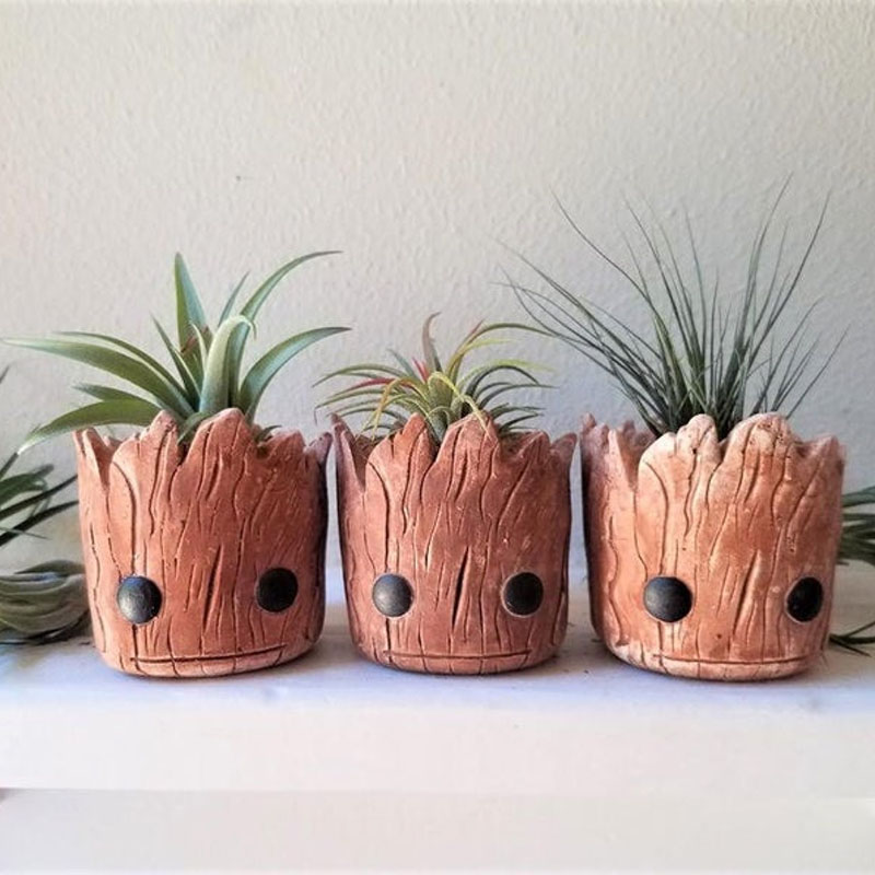 Groot Planter Gift Set Baby Air Plant Pot flower pot