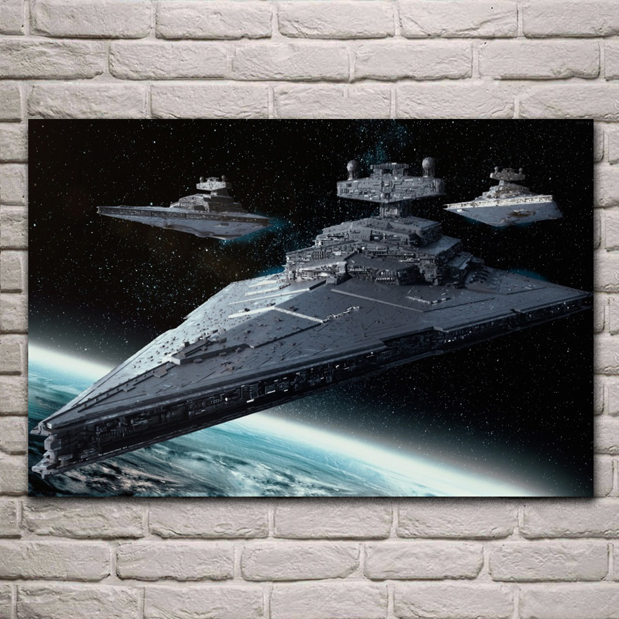 Imperial Class Star Destroyer Wars Fantasy Wallpaper Living Room