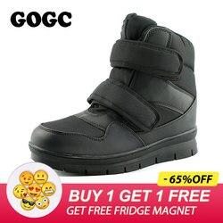 GOGC 2019 Warm Winter Boots Men Snow Boots Brand Non-slip Winter Men Shoes High Quality Shoes Men Winter Ankle Boots Plus Size