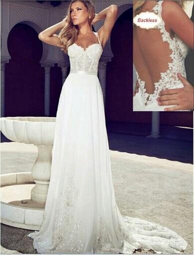 Nueva moda elegante una línea blanca mujeres vestidos de novia 2016 ...