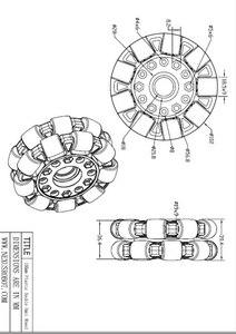 Image 5 - 100mm Double Plastic omni Wheel basic 14049