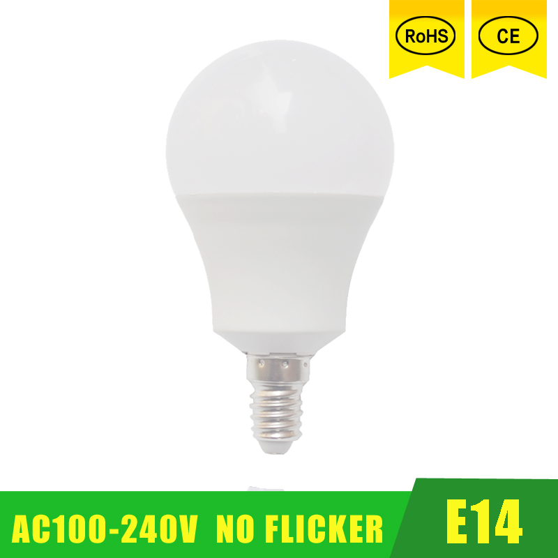 E14 LED Lamp 3W 5W 9W 220V 110V Warm/Cold White Bulb Light/Lamp Ball Lampada Ampoule Bombilla table lamp room