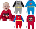Spring Autumn Baby Boy Romper Long Sleeve Cartoon Clothes Superman Spiderman Kids Clothes Cotton 4 Styles Infant Outerwear