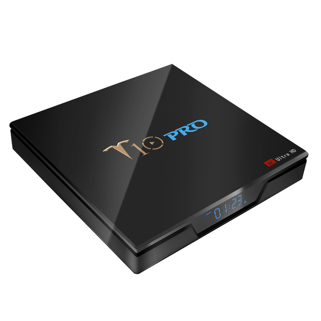 T10 Pro TV Box Amlogic S905X2 Android 8.1 4GB 32GB 4GB 64GB BT4.1 2.4G + 5G WiFi USB3.0 4K VP9 Smart Tv Box