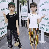 2018 Girls clothes kids summer Fashion clothes set Toddler shirt print Pants 2Pcs new Outfits suits childrens girl clothing sets