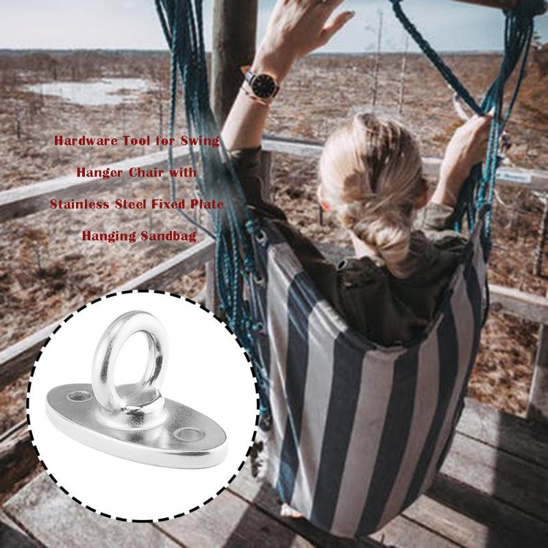 Stainless Steel Fixed Plate Hook Sandbag Swing Hammock Chair Hardware Tool Expansion Screw Hammock Sandbag 80*46*40mm