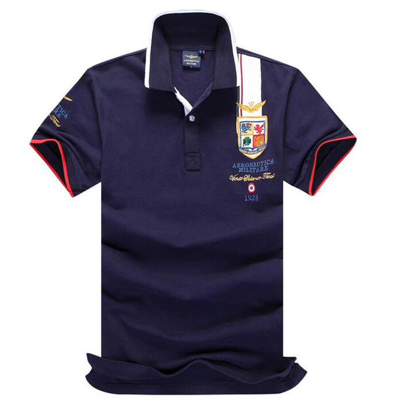 2018 Hot New Arrival Brand   Polo   Aeronautica Militare men Shirt Air Force One Camisas Masculinas Cotton   Polo   Ralphly men Shirts