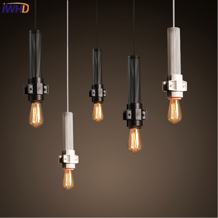 IWHD Retro Vintage Pendant Lights Fixtures Loft Style Iron Industrial Lamp White Black Bedroom Hanglamp Home Lighting Luminaire iwhd loft industrial hemp rope pendant lights iron vintage lamp retro living room pendant light fixtures home lighting hanglamp