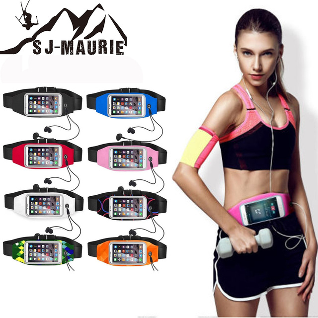 Belt Bag Sport Gym Waist Phone Storage Bag Strap Running Belt for IPhone 6 6s 7 Plus Mobile Phone Outdoor Bag 4.7 Inch 5.5 Inch