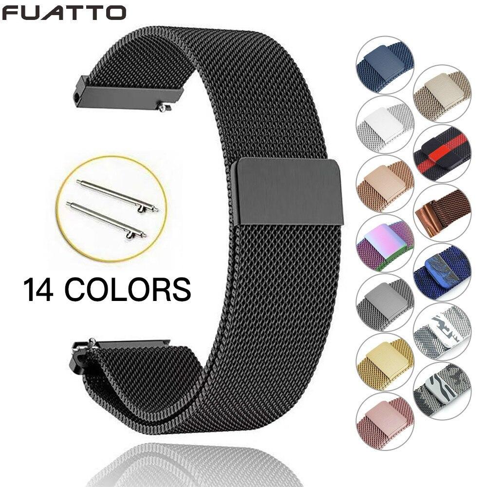 Winkelen Voor Goedkoop Strap 22mm 20mm Samsung Galaxy Horloge 42mm 46mm Milanese Rvs Loop Voor Samsung Gear Classic Frontier Voor Amazfit Bip Factory Direct Selling Prijs
