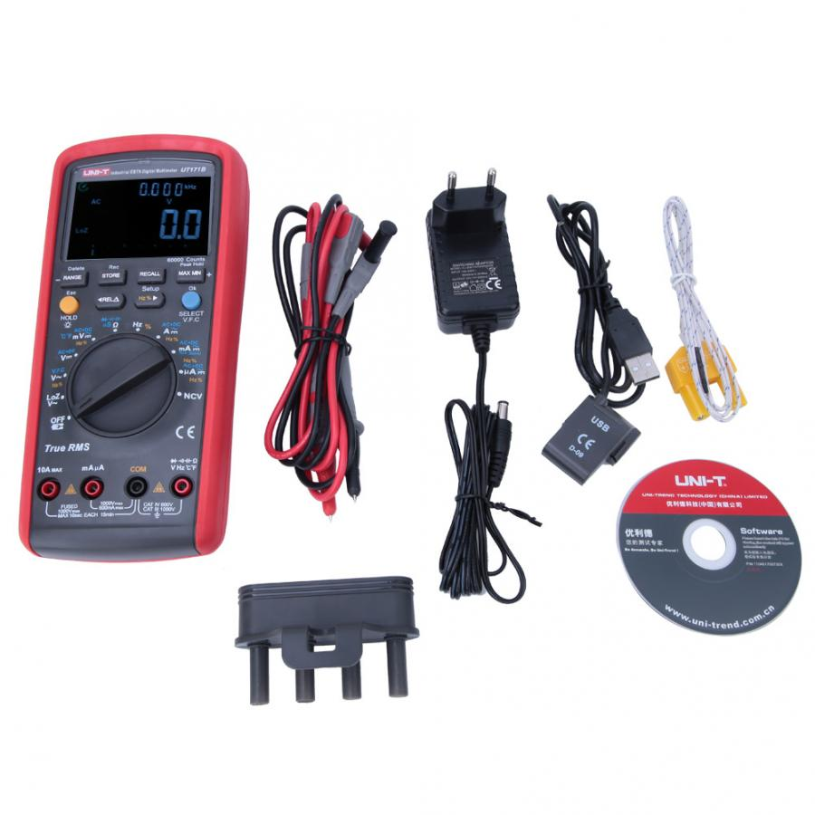 Uni T Hand Held Industrial True Rms Digital Multimeter Current Voltage Resistance Test Ut171a Ut171b For True Rms Voltage Multimeters Aliexpress