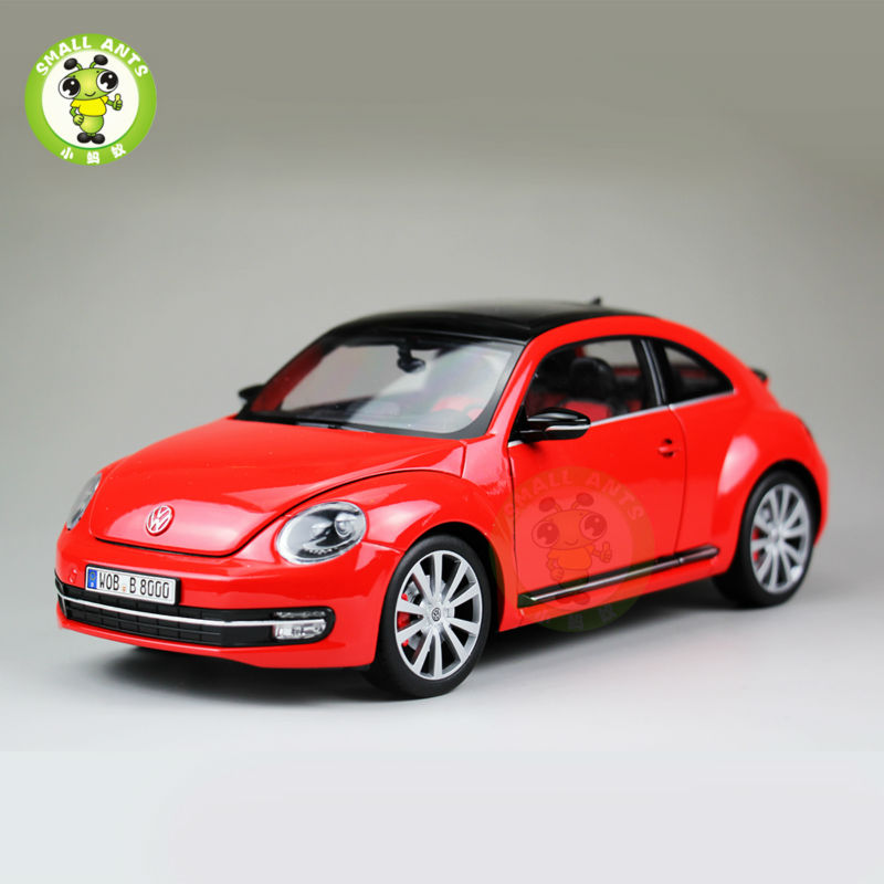 1:18 Scale VW Volkswagen,New Beetle,Diecast Car Model,Welly FX models,Red 1 18 масштаб vw volkswagen новый tiguan l 2017 оранжевый diecast модель автомобиля