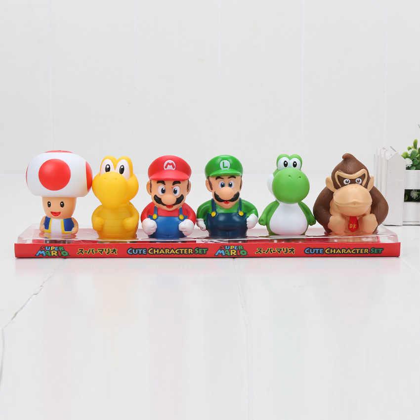 6pcs Set 6 5cm Super Mario Bros Koopa Troopa Toad Mario Luigi