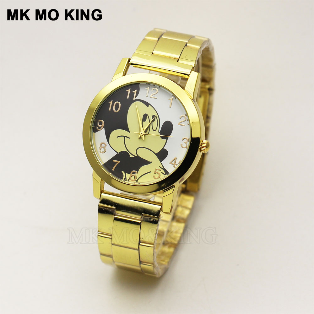 New Cute Cartoon Cool Children's Watch Fashion Gold Quartz Waterproof Ladies Clock Casual Boy Girl Party Gift Relojes