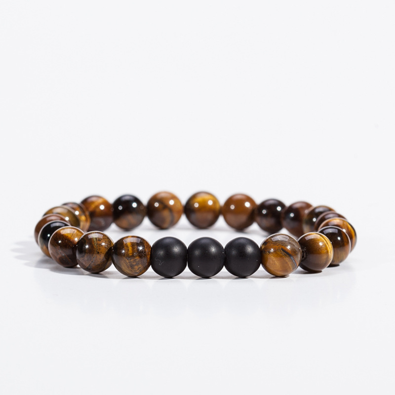 Mdiger Brand Natural Lava Stone Bracelet Men Jewelry Classic Black Beaded Bracelets