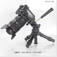 Portable Folding Ultra Aluminum Plastic Lightweight Compact Desktop Macro Mini Tripod with 3 way Tilted pan Head For DSLR Camera