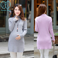 8968# One Size Super Stretch Shaping Knitted Maternity Sweaters 2016 Autumn Fashion Pullovers Dress Clothes for Pregnant Women