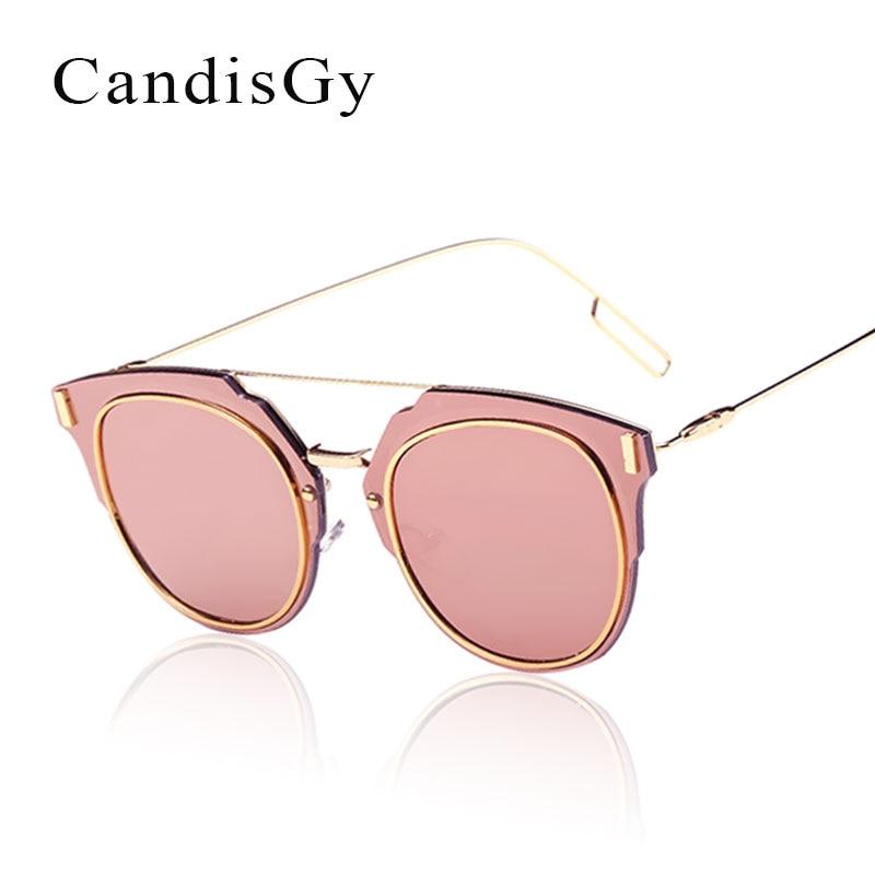 Flat Lens Sunglasses Metal Frame Women Men Mirror Cat Eye Brand designer Fashion Lady Sun Glasses
