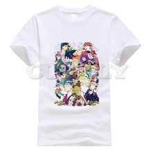 2019 New T-shirt Round Neck Jojo Bizarre Adventure Thsirt Japan Anime Cartoon Summer Dress Men Tee Cotton Funny T Shirt