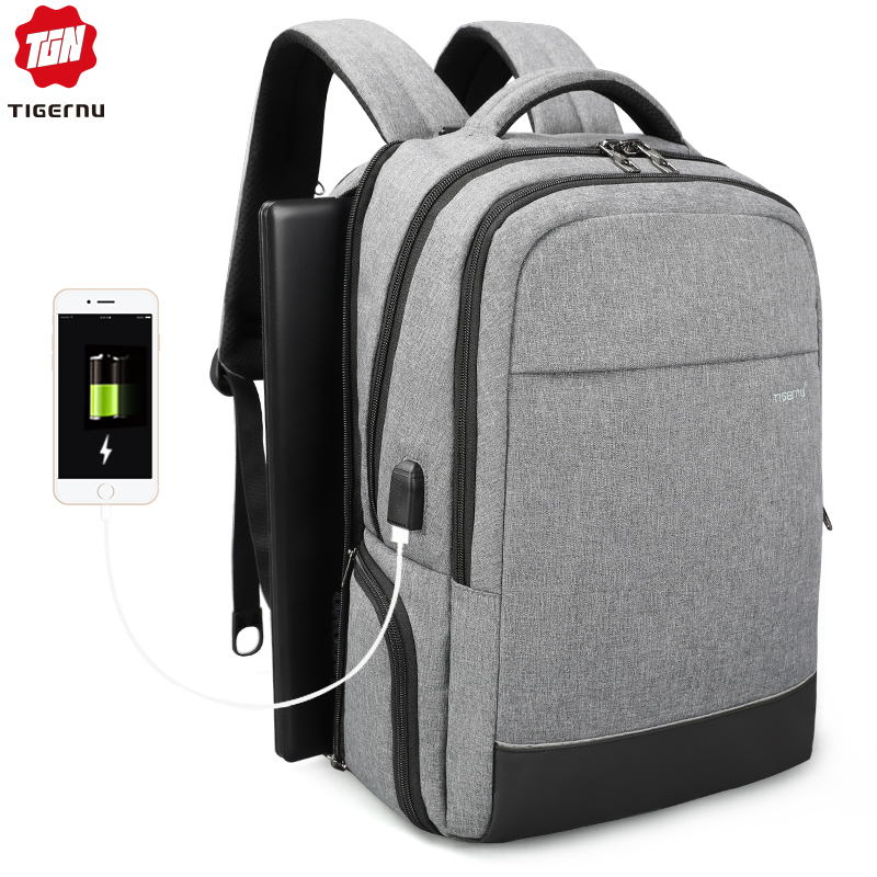 Tigernu Anti theft Male Mochila Business Multifunctional USB Charging 15 inch Laptop Backpack Water Resistant School