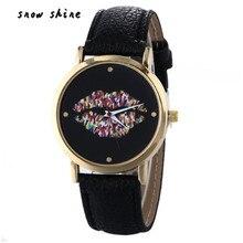 Snowshine # 10xin Vogue de Couro Banda Quartzo Analógico Relógios de Pulso frete grátis