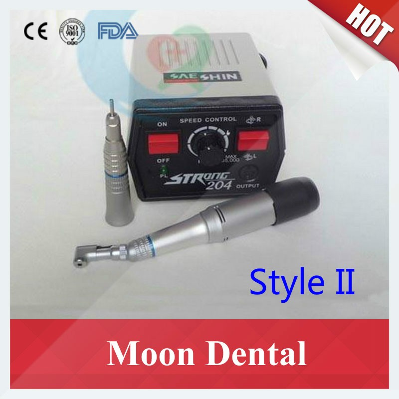 Strong 204 mocromotor+108E+straight contra angle handpiece 3