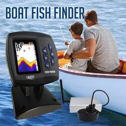 جهاز كشف أسماك FF918-CWLS ذو شاشة عرض ملونة لاسلكي نطاق تشغيل 300 متر عمق 100 متر