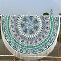 The most Round Hippie Tassel Tapestry Beach Throw Mandala Towel Yoga Mat Bohemian