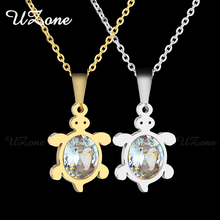 UZone Cute Bear Crystal Pendant Necklace Stainless Steel