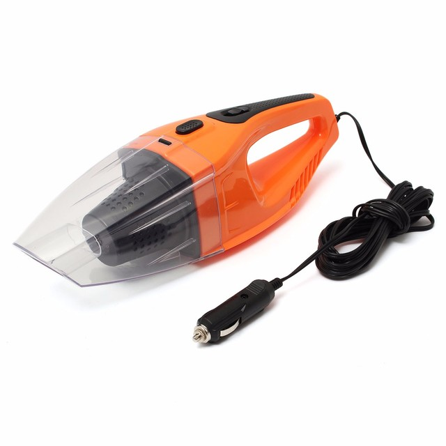 Orange 12V 100W Portable Car Vehicle Automobile Handheld Vacuum Cleaners Wet Dry Dual-use Car Vacuum Cleaner