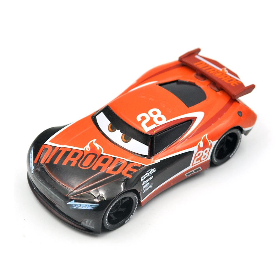 Disney Pixar Cars 3 Racing Center Tim Treadless NO.28 Metal Diecast Toy Car 1:55 Loose Brand New In Stock toys for children цена