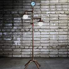 Vintage Creative Iron Water Pipe Floor Lamp Loft Industrial Standing Lamp Hotel Bedroom Study Living Room Light E27(China)