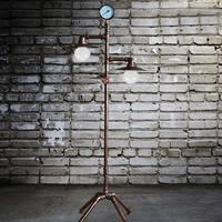 Vintage Creative Iron Water Pipe Floor Lamp Loft Industrial Standing Lamp Hotel Bedroom Study Living Room Light E27