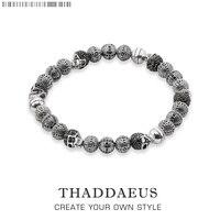 Rebel Skull Cross Beads Bracelets Thomas Style Bracelet Jewerly For Men Link At Heart Gift In