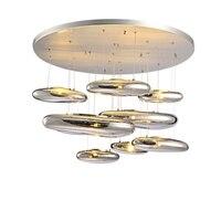 GZMJ Wonderland капли воды серебряный Стекло камень светодиодный подвесной светильник новый домашние освещение украшения роскошный кулон светлы