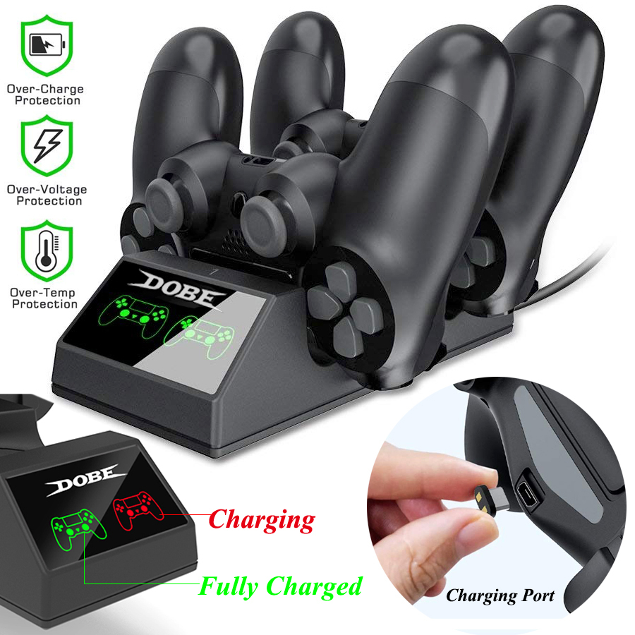 Ps4 controlador carregador ps4 usb estação de carregamento doca estação de carregamento para sony playstation 4/ps4 pro controlador