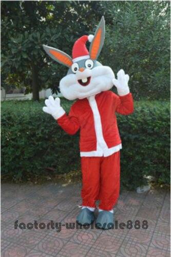 Пасхальные Bugs Bunny кролик талисман костюм Косплэй Вечерние игры платье наряды рекламы карнавальный Хэллоуин Рождество Пасхальный взрослых