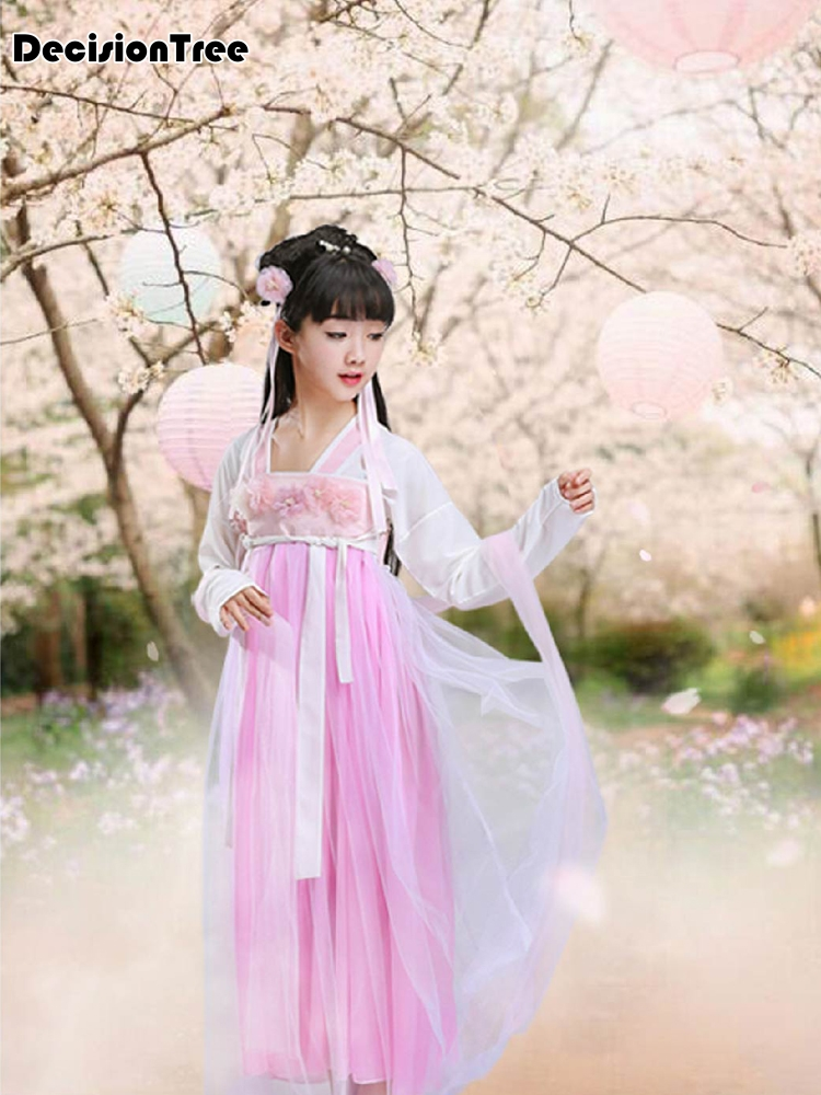 2019 new ancient chinese costume kids child seven fairy hanfu dress clothing folk dance performance chinese traditional dress2019 new ancient chinese costume kids child seven fairy hanfu dress clothing folk dance performance chinese traditional dress