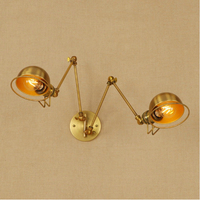 retro loft adjustable wall sconce creative restaurant hotel wall lamp adjustable wall light swing arm wall mounted lamp sconce